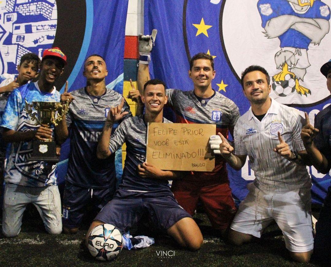 Time de Dadá Boladão e MC Livinho ganha do time de Prior e Rafael Guti, em jogo narrado pelo Ney Silva