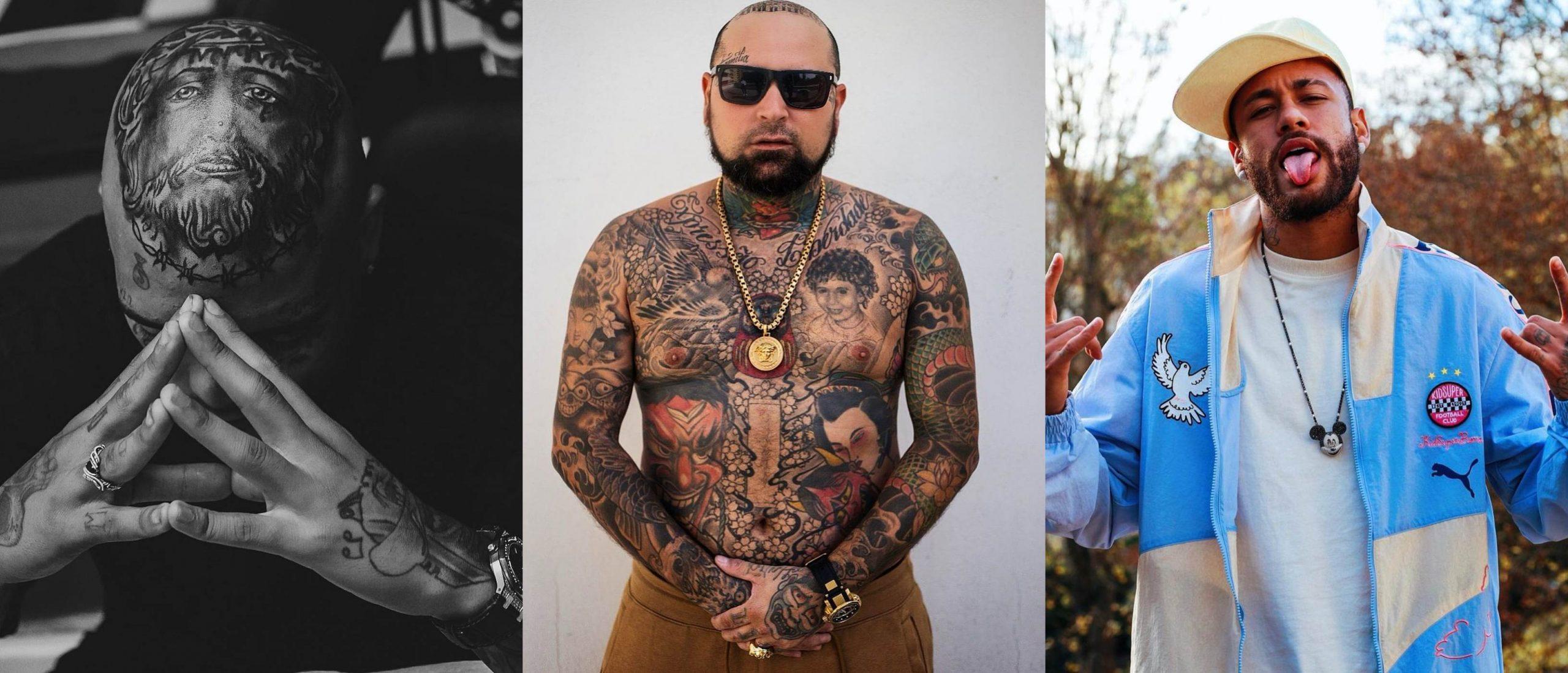 Responsável pelas últimas tatuagens de MC Kevin, Adão Rosa rabiscou Neymar e é sucesso entre os famosos