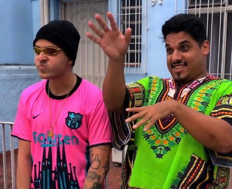 Humoristas fazem sucesso nas redes sociais imitando os MC's: Kevin, Ryan SP e Salvador da Rima