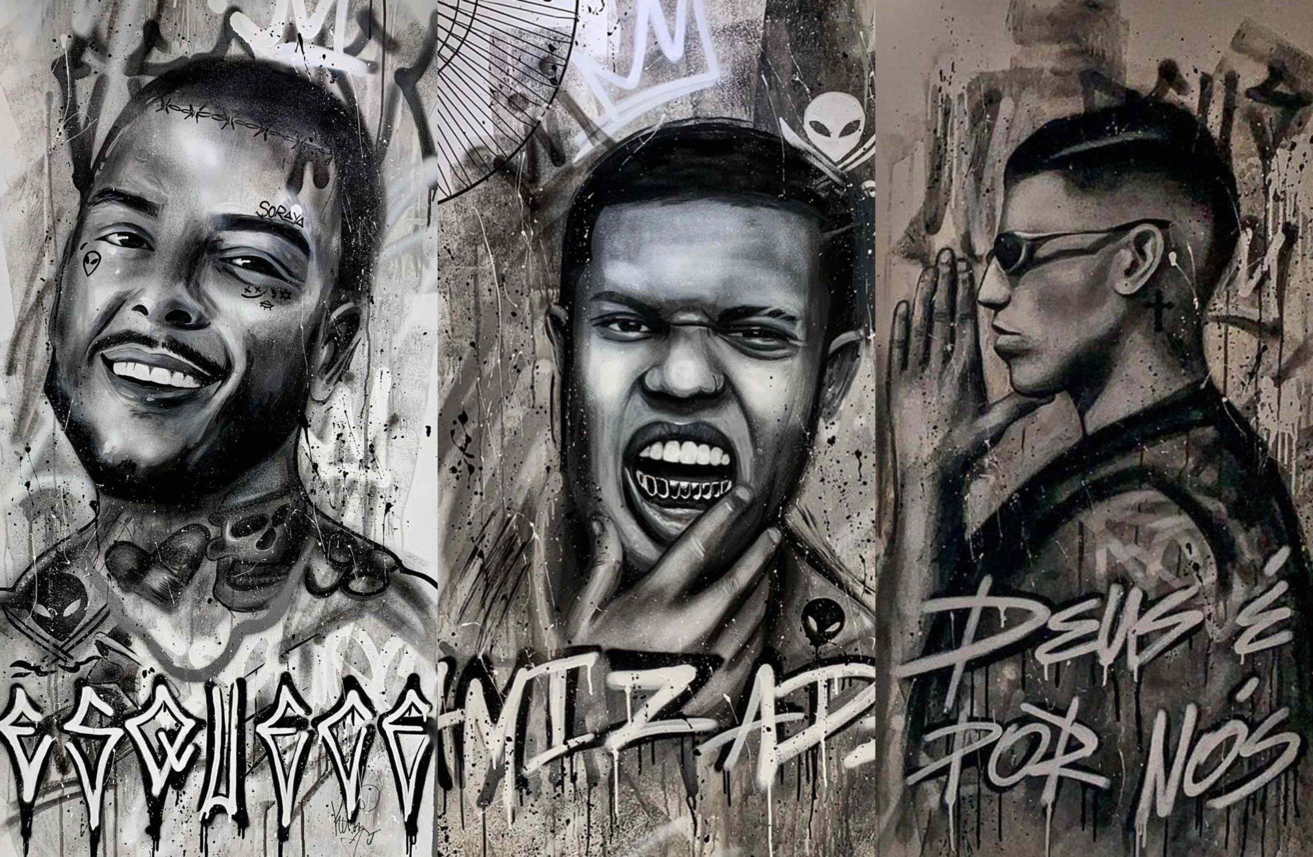 Grafite dos MC's na Mansão Maromba: Juliana Fochesato surpreendeu Lan, Marks e Kevin pelos traços idênticos