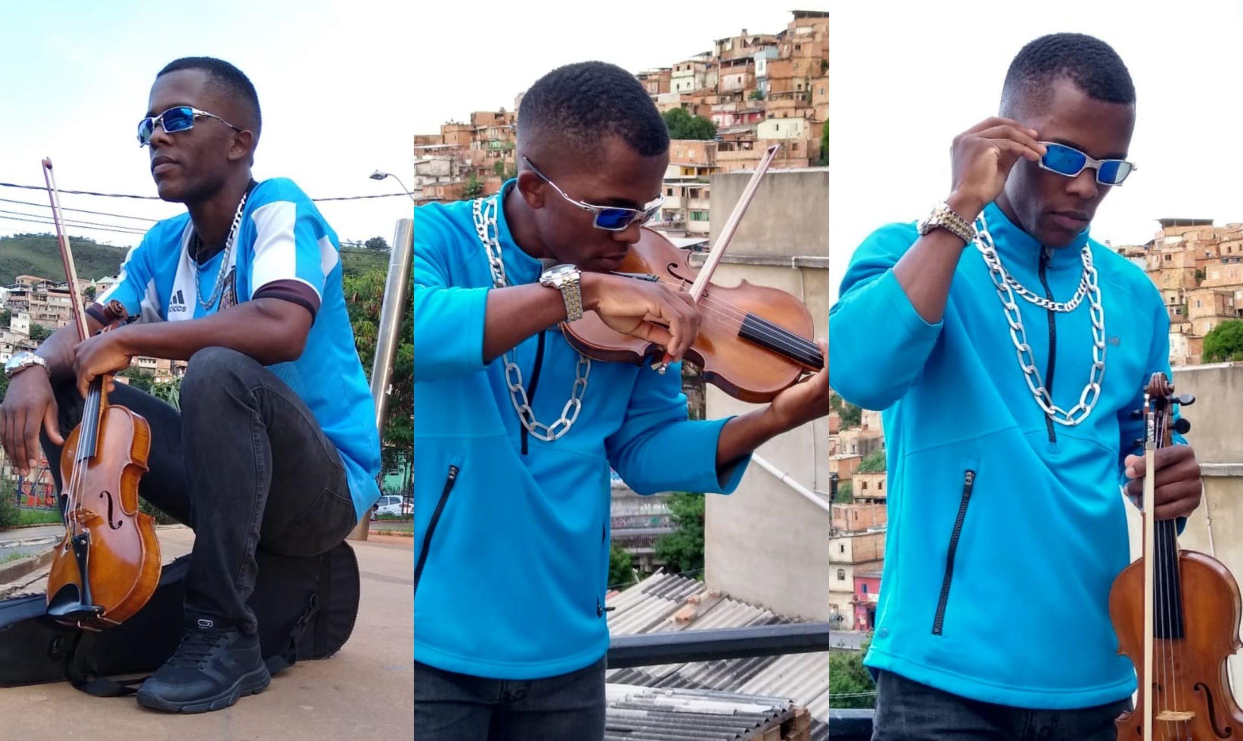 """Conheça Melk da Silva, o chave que toca funk no violino: """"Quero encaixar duas coisas que não combinam!"""""""