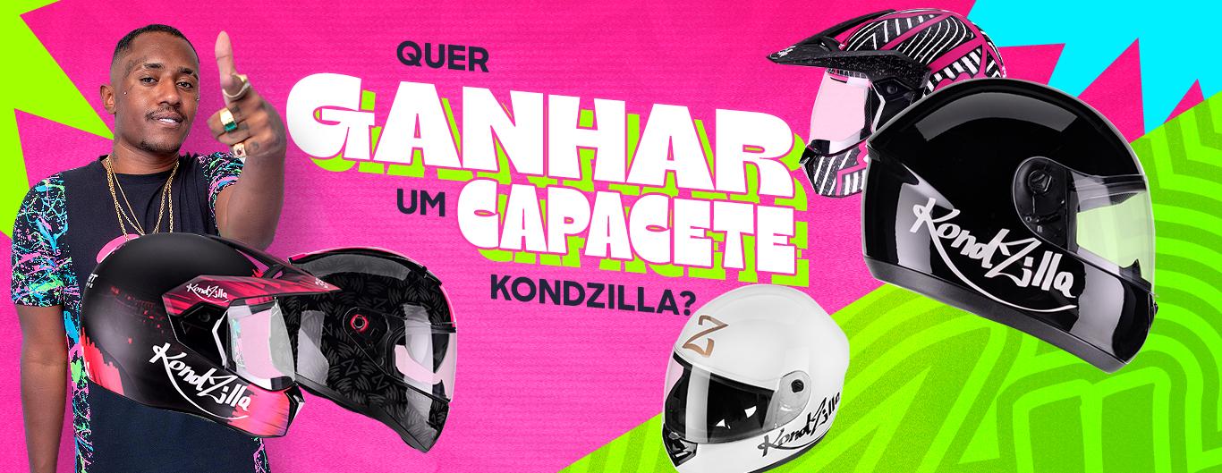 KondZilla e MC Dede estão sorteando um capacete especial; saiba como participar