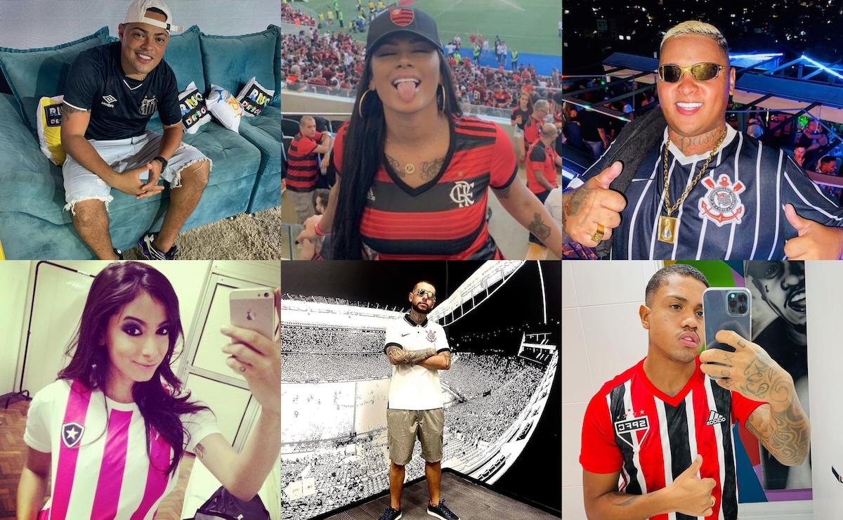 Time de futebol do coração dos MC's: Kevinho, Kekel, Dede, Menor K, Anitta, Kevin, Ryan SP, Hariel, Pocah e outros