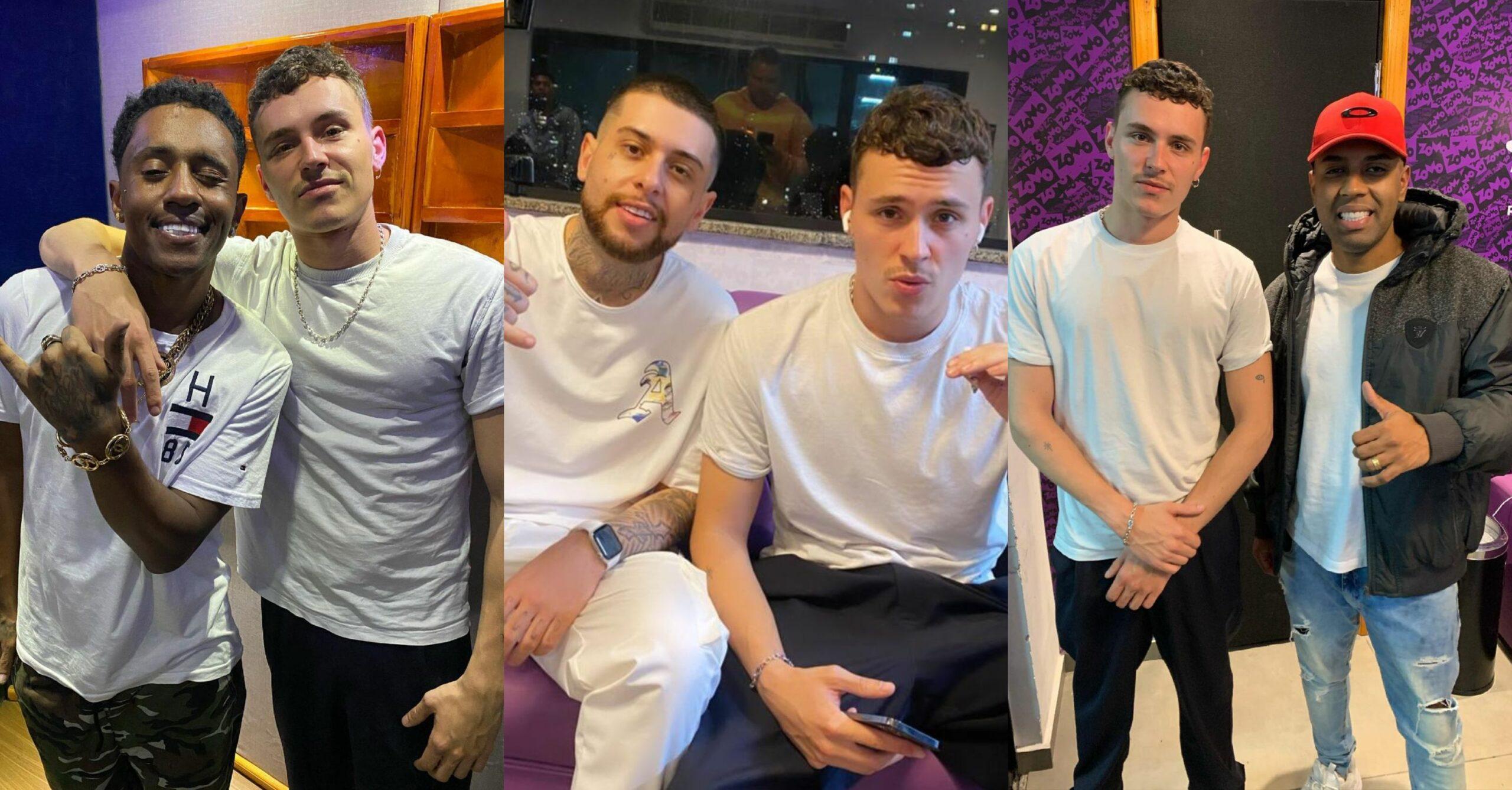 MCs Dede, Hollywood e MM se unem com Aron Piper nos estúdios da KondZilla Records para gravação de hit