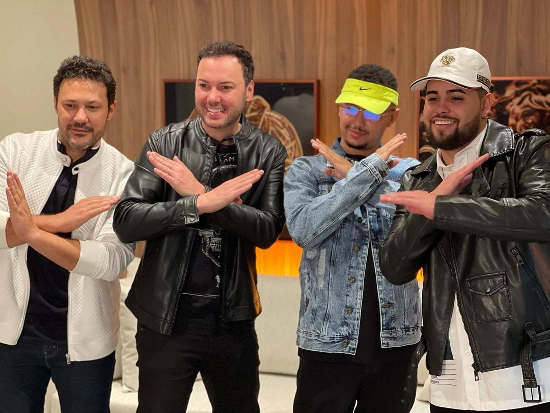 """Bastidores: João Bosco e Vinicius, Jerry Smith e DJ Lucas Beat gravam videoclipe de música """"Quer Beijar Pra Ver"""""""