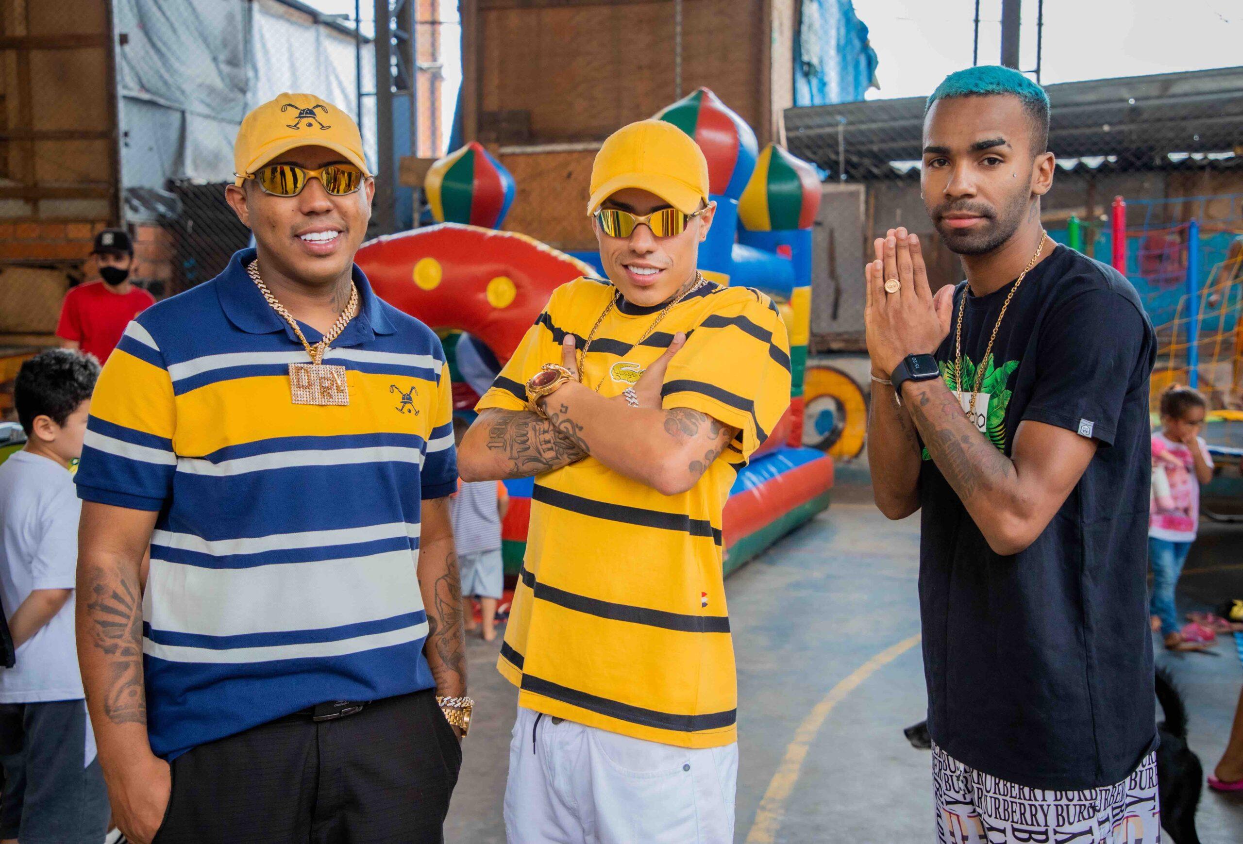 MC DR, MC Menor MR e MC Liro se reúnem para gravação de videoclipe