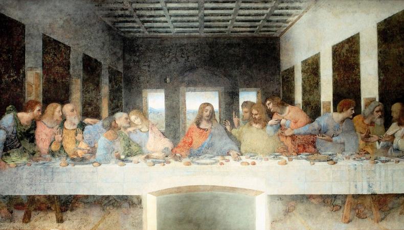 イタリアで予約困難な「最後の晩餐」を観る