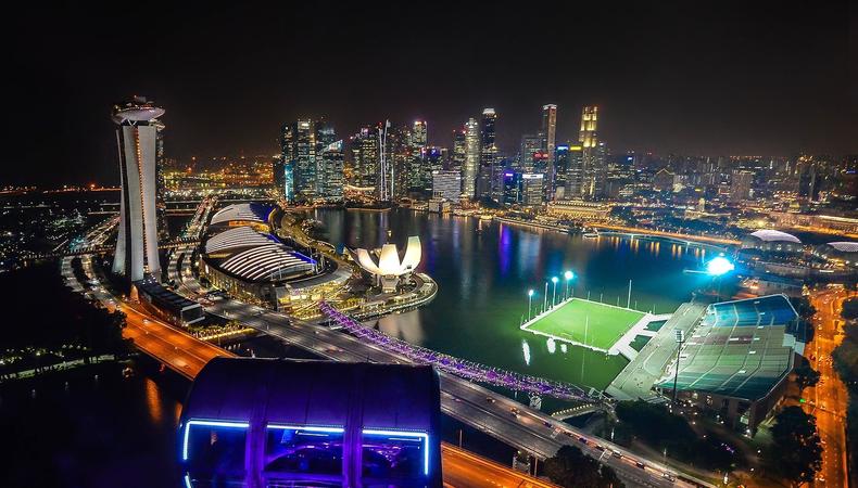 世界一高い観覧車でスカイダイニング@シンガポール