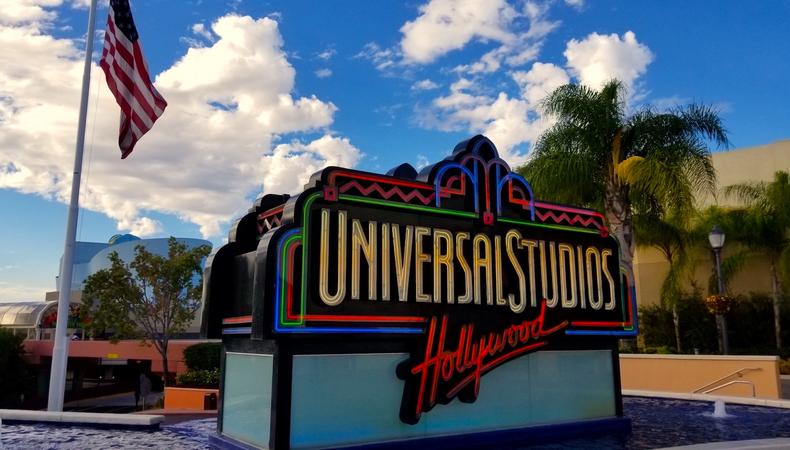 ユニバーサル・スタジオ・ハリウッドでびしょ濡れ!