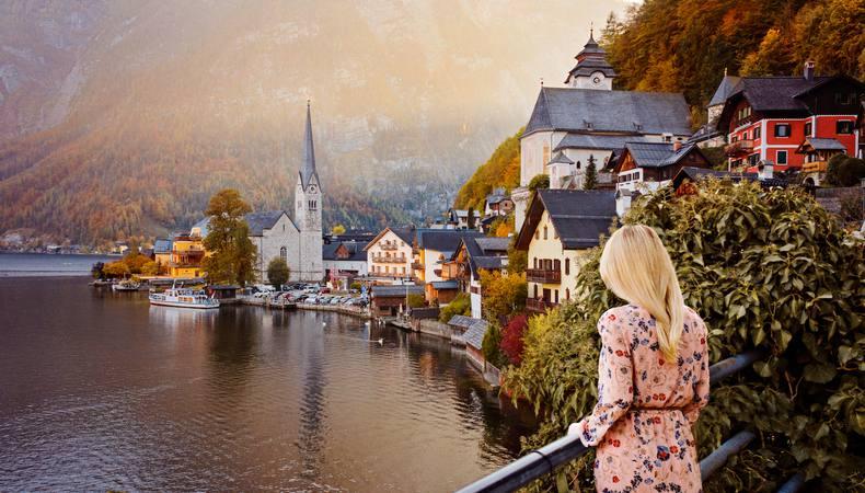 オーストリア、世界一美しい湖畔の町ハルシュタット