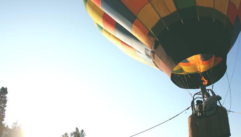気球に乗ってバルセロナ郊外の自然を満喫