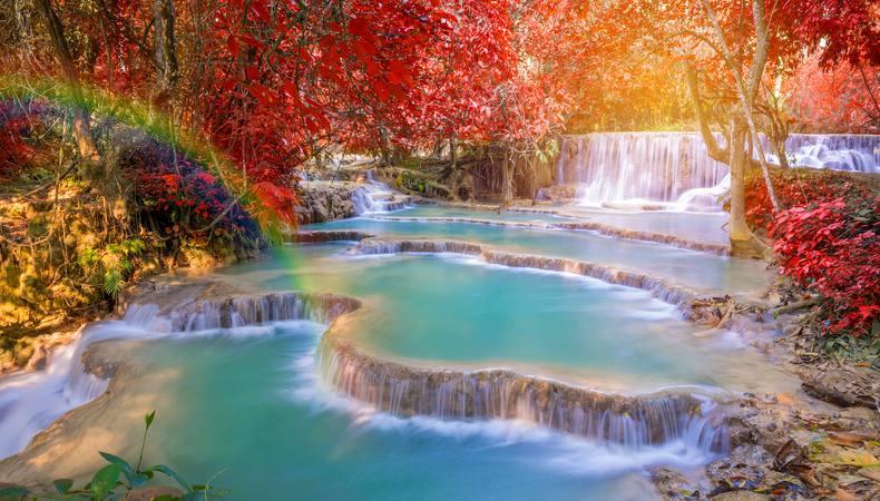 ラオス、パクオー洞窟とクアンシー滝に行ってみたい