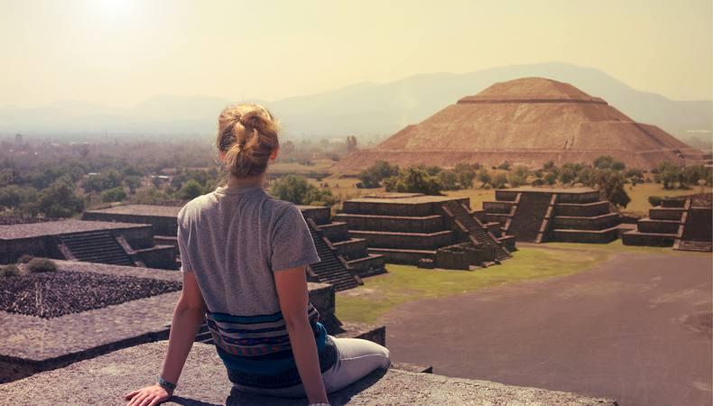 メキシコ、テオティワカン遺跡の大迫力ピラミッド!