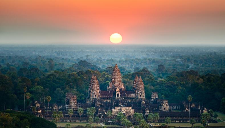 バルーンに乗ってアンコール遺跡群を眺めたい@カンボジア