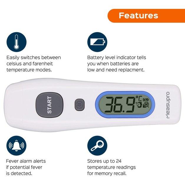 b29e5f152b4 MeasuPro 노터치 체온계 $8.49 (정가: $54.99) -