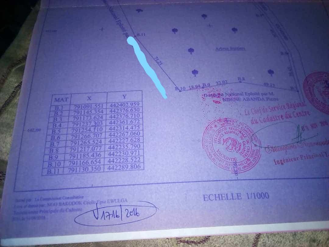 Land for sale at Yaoundé, Soa, fin goudron - 18409 m2 - 130 000 000 FCFA