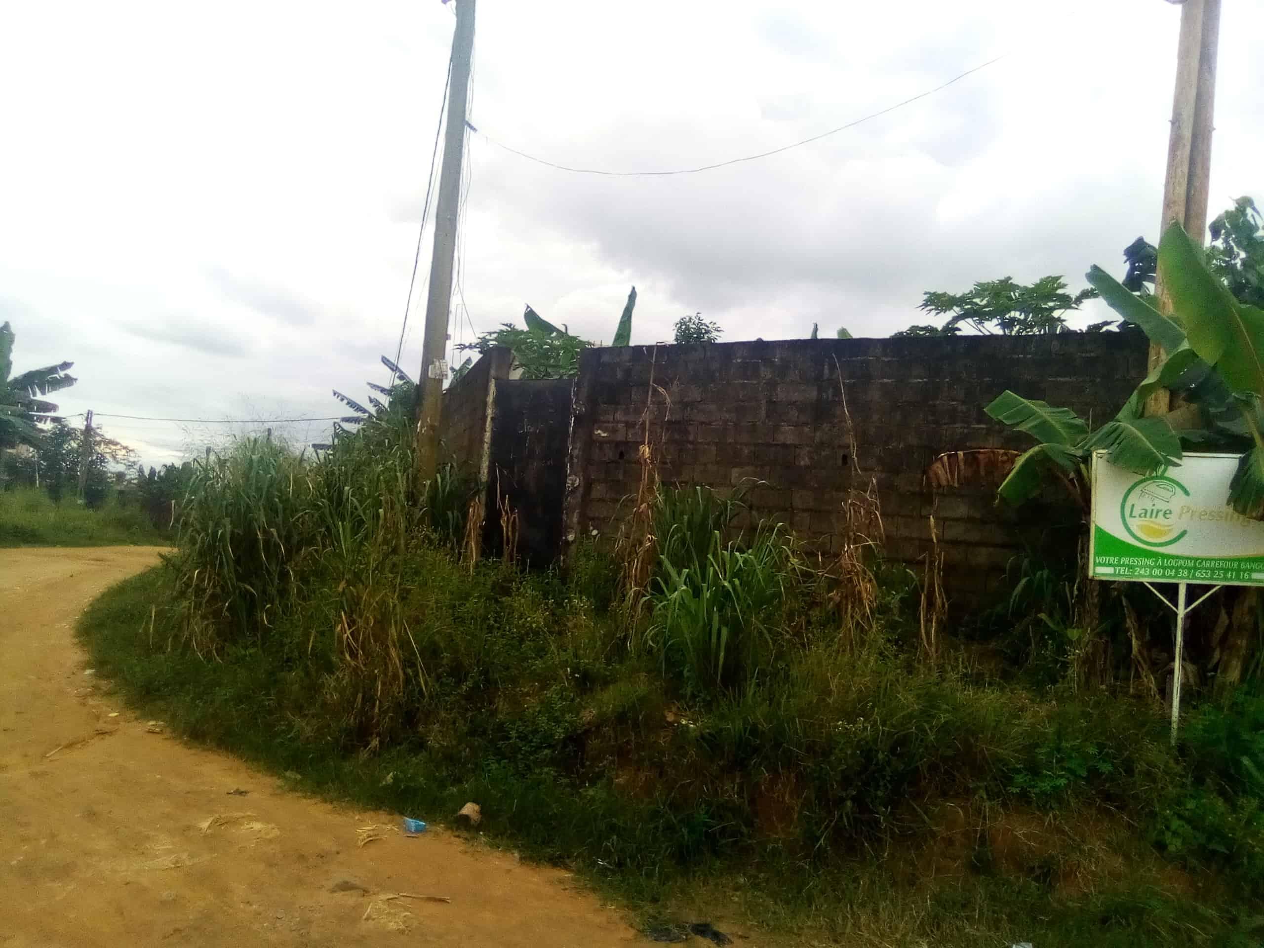 Land for sale at Douala, Logpom, Bangos en route - 500 m2 - 22 000 000 FCFA
