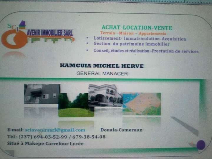 Appartement à louer - Douala, Makepe, DERRIERE LE LYCEE DE MAKEPE - 1 salon(s), 3 chambre(s), 2 salle(s) de bains - 90 000 FCFA / mois