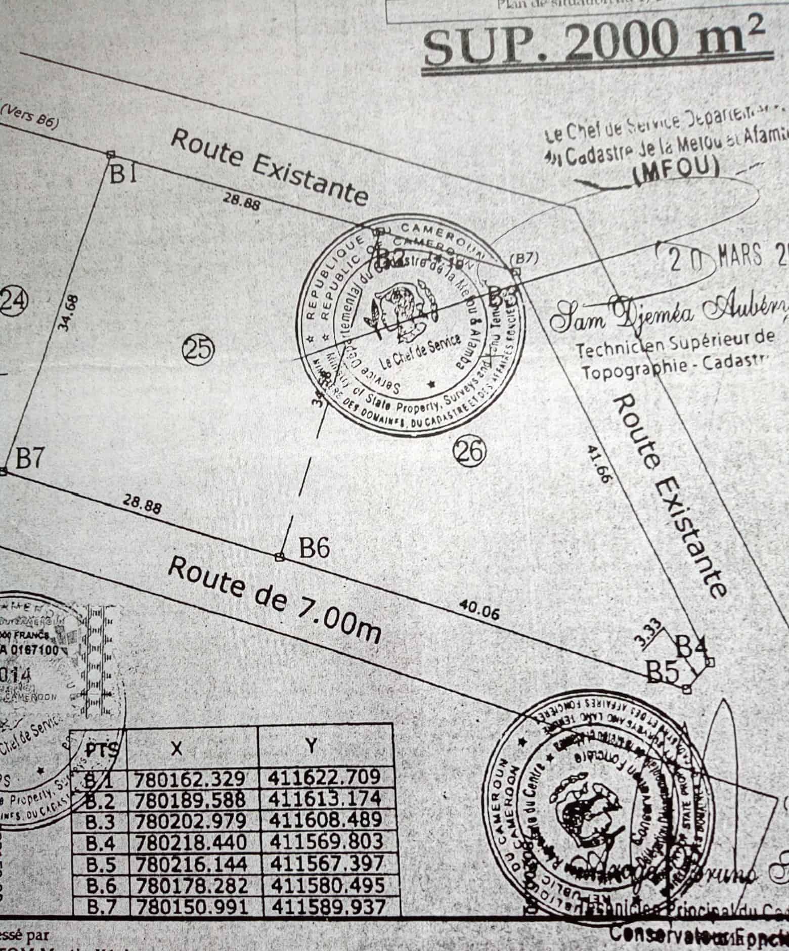 Terrain à vendre - Yaoundé, Nsimalen, Ecole publique - 500 m2 - 4 000 000 FCFA