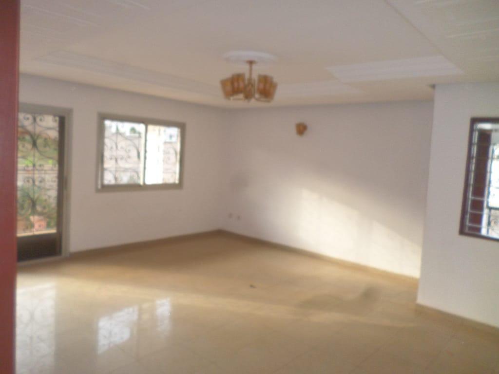Appartement à louer - Yaoundé, Mfandena, pas loin du rond point - 1 salon(s), 3 chambre(s), 3 salle(s) de bains - 250 000 FCFA / mois