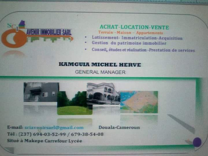 Land for sale at Douala, Logbessou I, FACE ANTENNE CRTV - 500 m2 - 12 500 000 FCFA