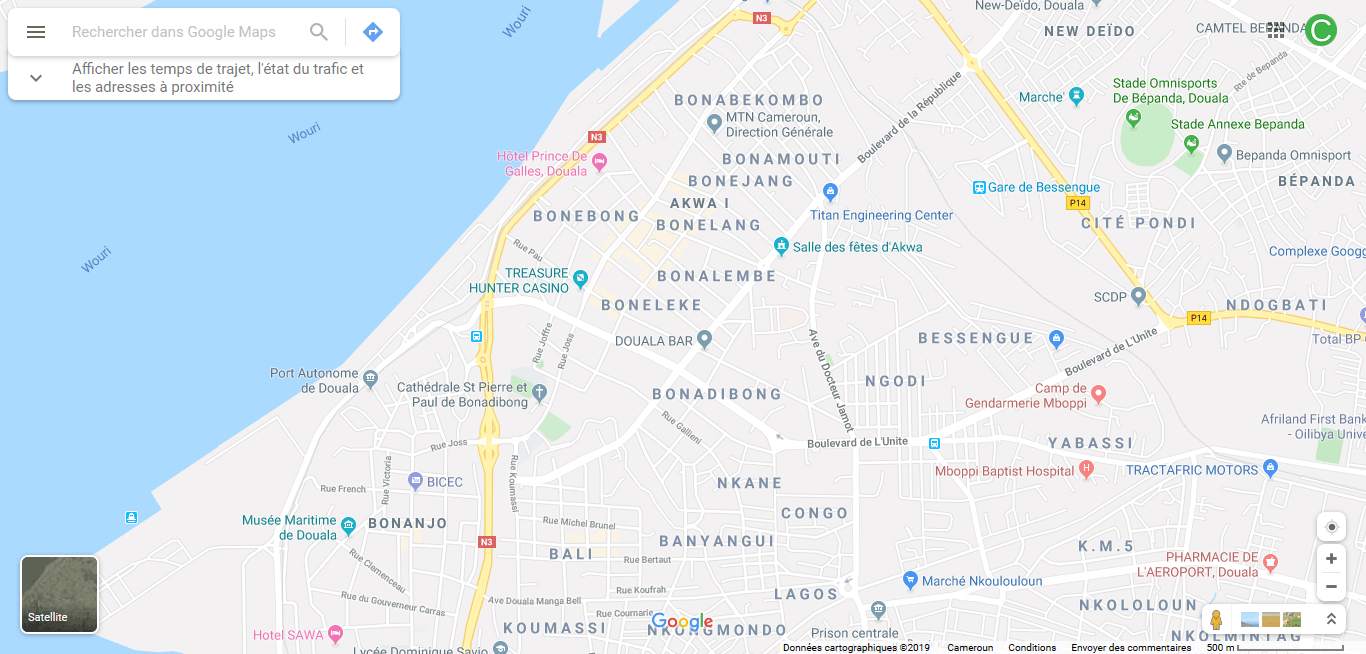 Land for sale at Douala, Akwa I, Bonadibong - 1500 m2 - 900 000 000 FCFA