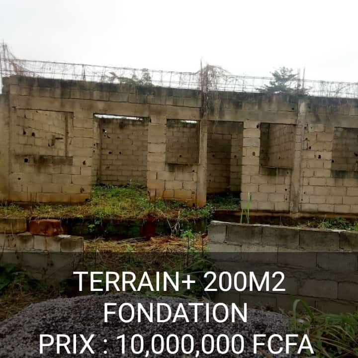 Land for sale at Yaoundé, Nkolfoulou, Terrain+Fondation à vendre Yaoundé Nkolfoulu - 200 m2 - 5 500 000 FCFA