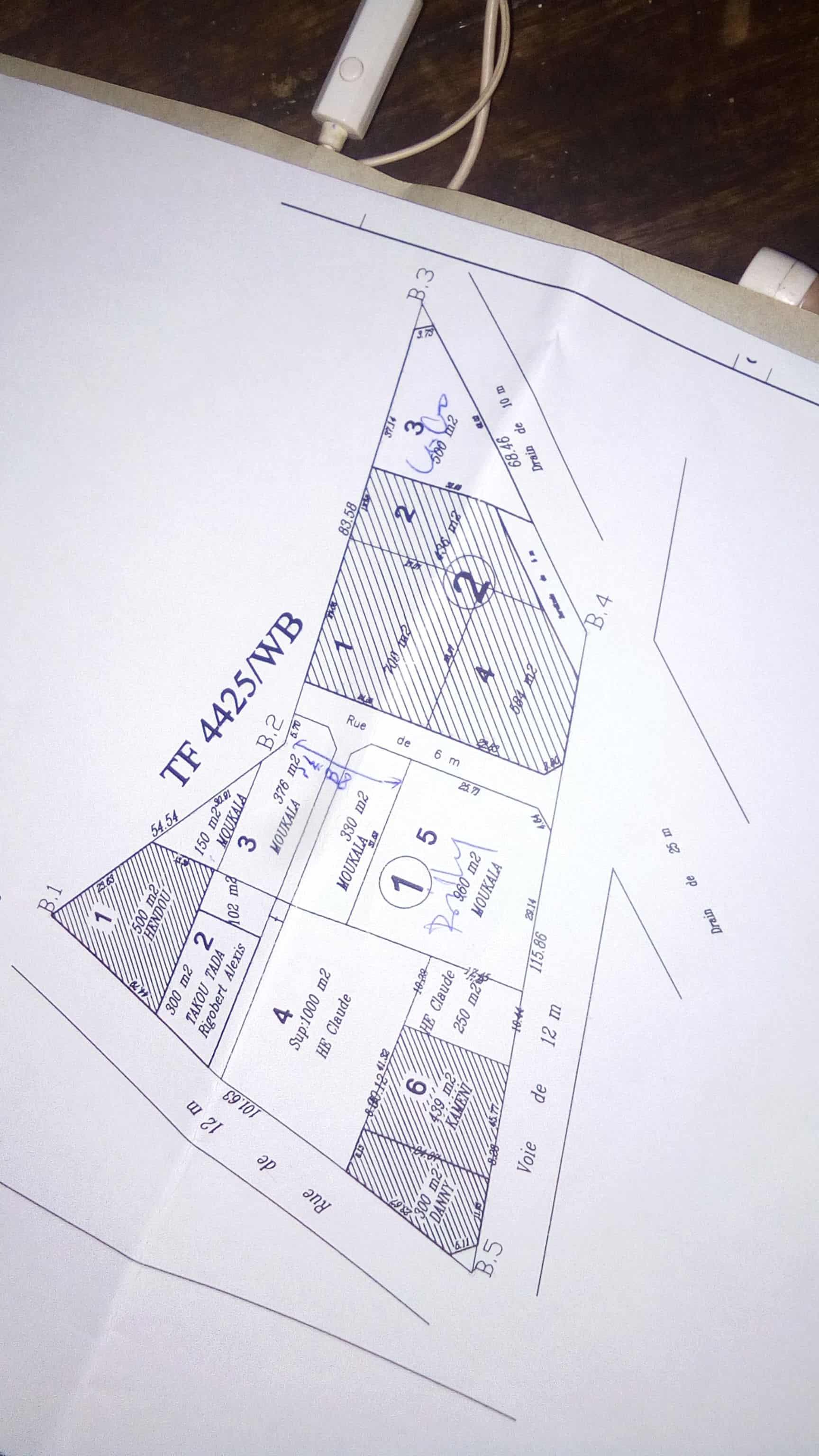 Terrain à vendre - Douala, Yassa, derrière le stade - 376 m2 - 5 640 000 FCFA