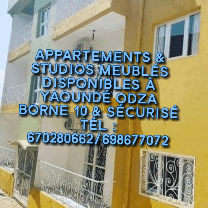 Appartement à louer - Yaoundé, Odza, Appartements meublés pour votre court séjour à Yaoundé ODZA - 1 salon(s), 2 chambre(s), 1 salle(s) de bains - 40 000 FCFA / mois