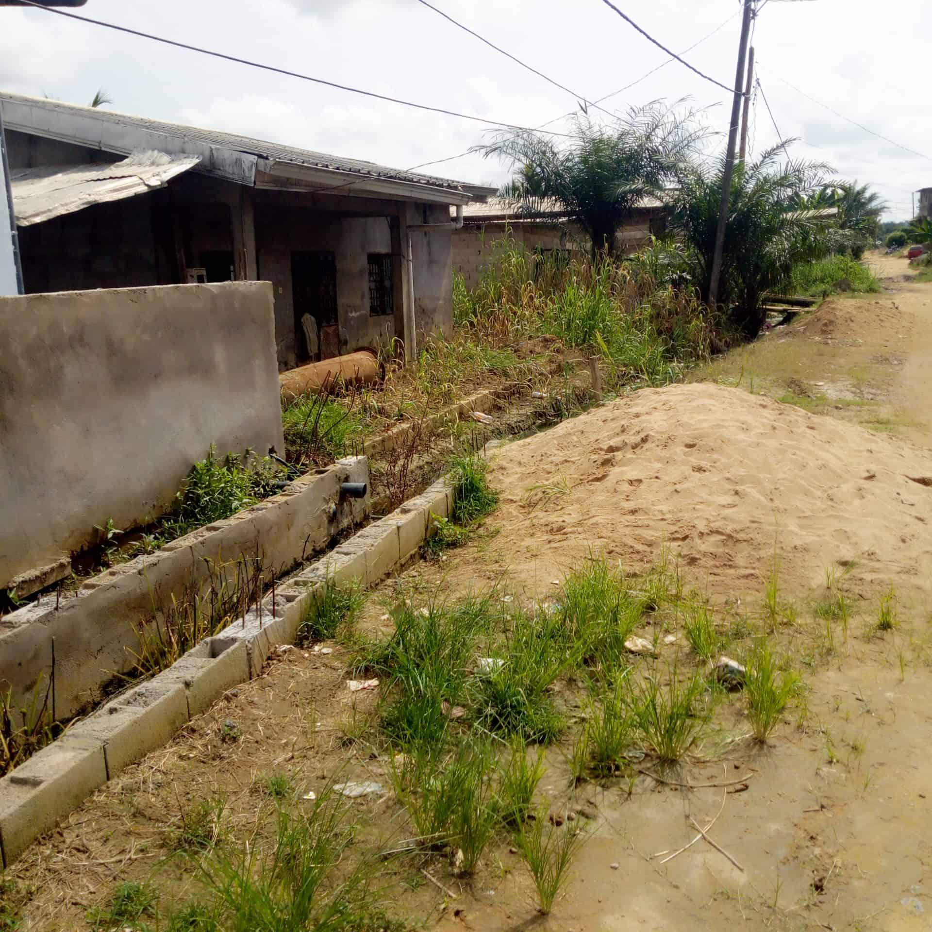 Land for sale at Douala, Bonamoussadi, Banguai toiture rouge - 480 m2 - 11 000 000 FCFA