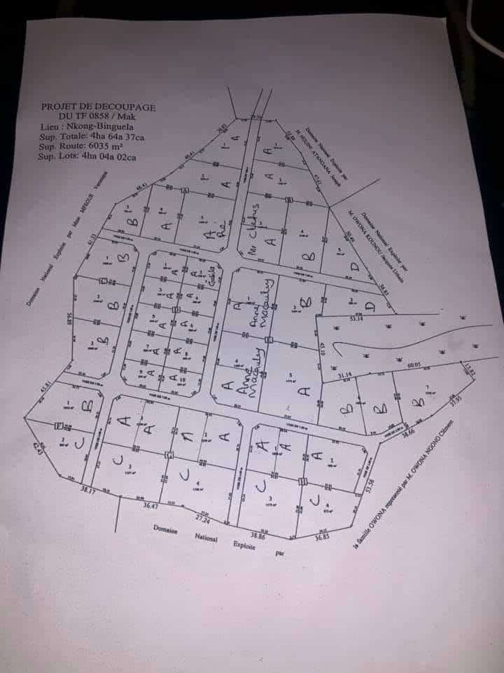 Land for sale at Yaoundé, Mbankomo, Binguela - 4 m2 - 7 500 000 FCFA