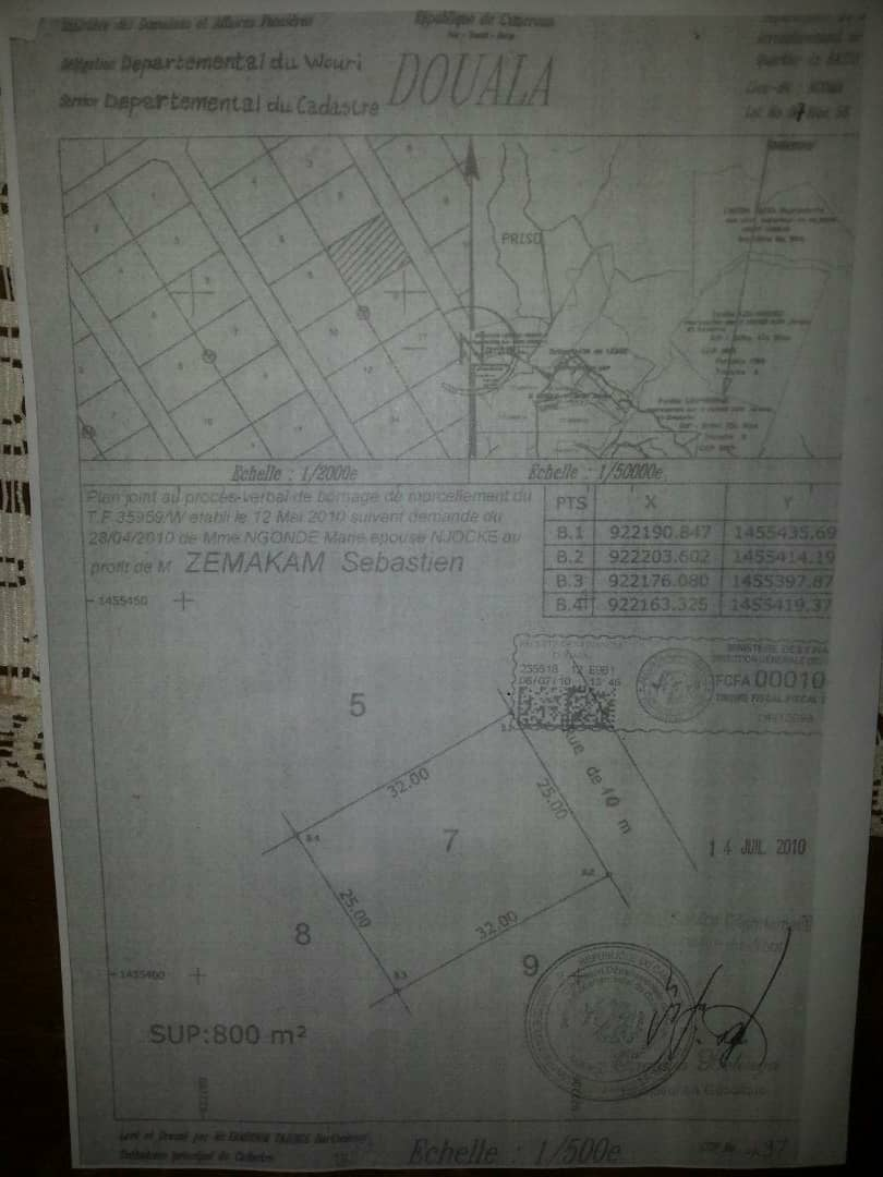 Land for sale at Douala, Logbessou II, Douala V - 800 m2 - 16 000 000 FCFA