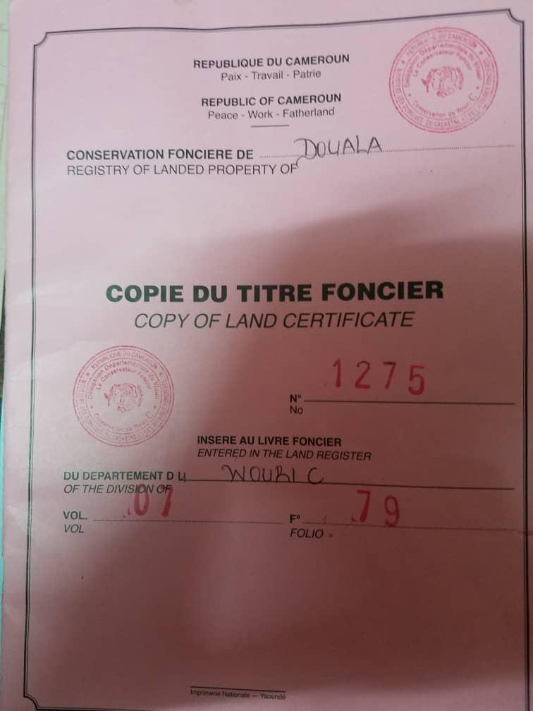 Land for sale at Douala, Makepe, bloc L - 600 m2 - 96 000 000 FCFA