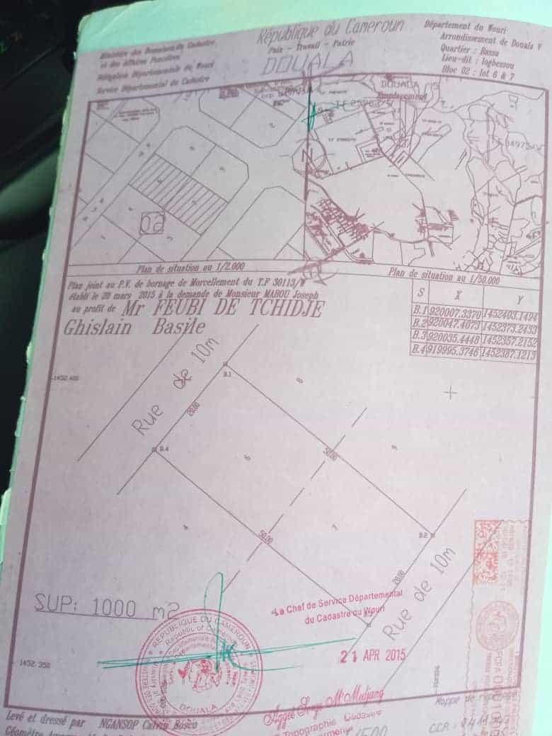 Land for sale at Douala, Logbessou II, Apres crtv antenn - 250 m2 - 17 500 000 FCFA
