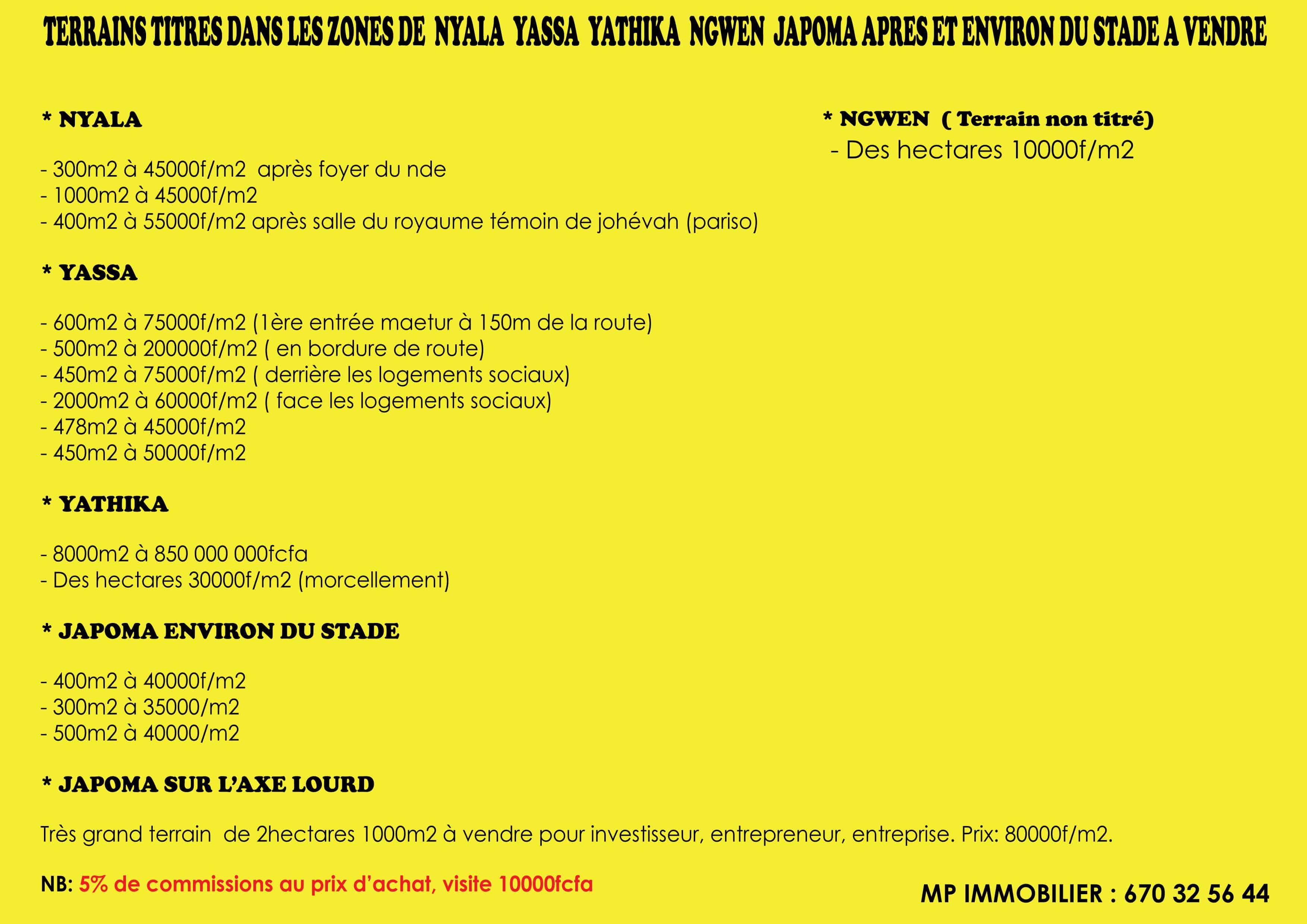 Land for sale at Douala, Bassa, nyala, yassa, yathika, gwen, japoma stade - 20000 m2 - 24 000 000 FCFA