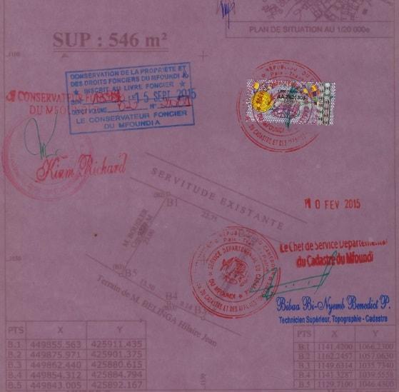 Land for sale at Yaoundé, Kondengui, Derrière la station TRADEX carrefour Essomba - 546 m2 - 49 140 000 FCFA