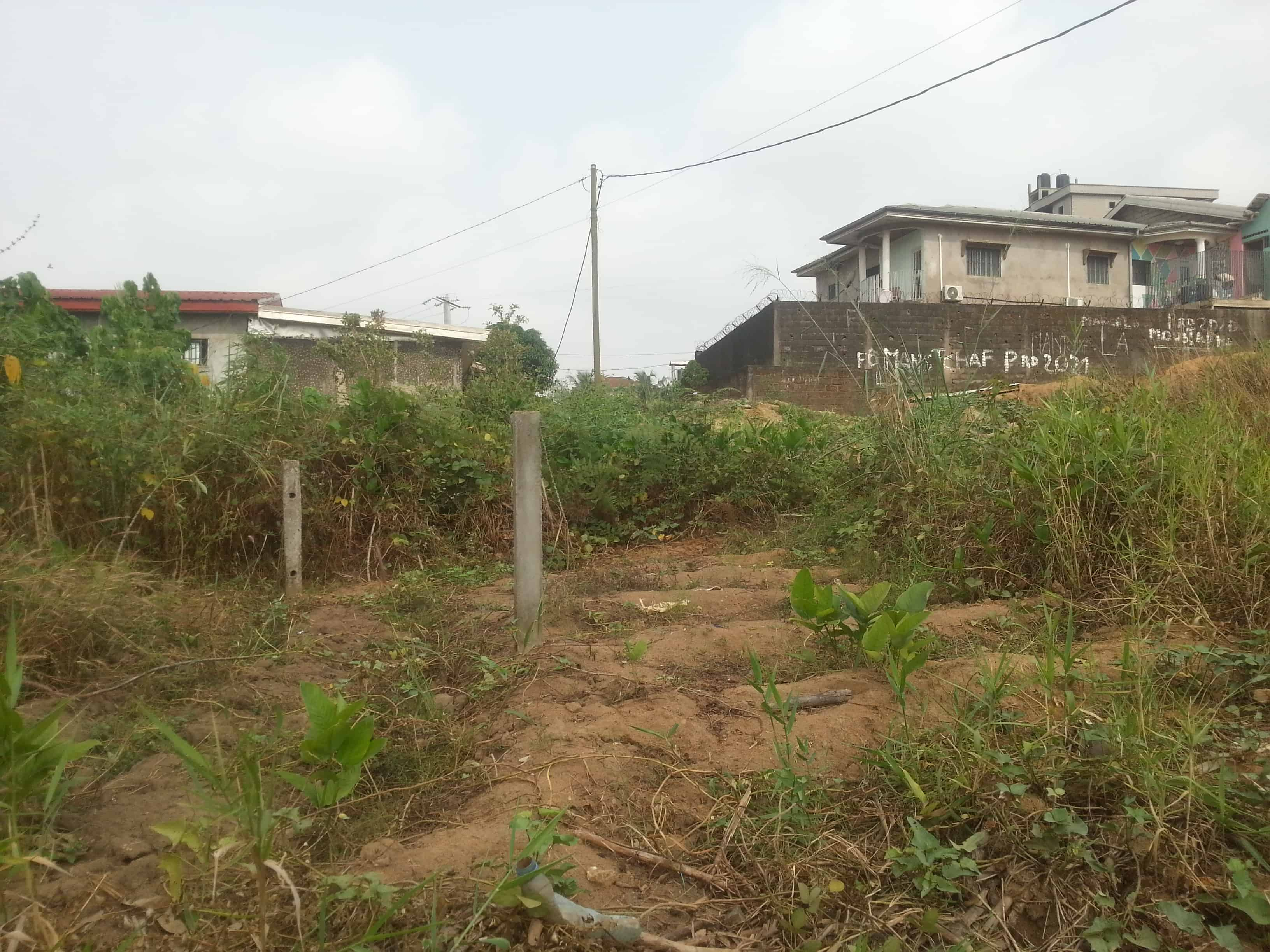 Land for sale at Douala, Logpom, montana city - 444 m2 - 20 000 000 FCFA