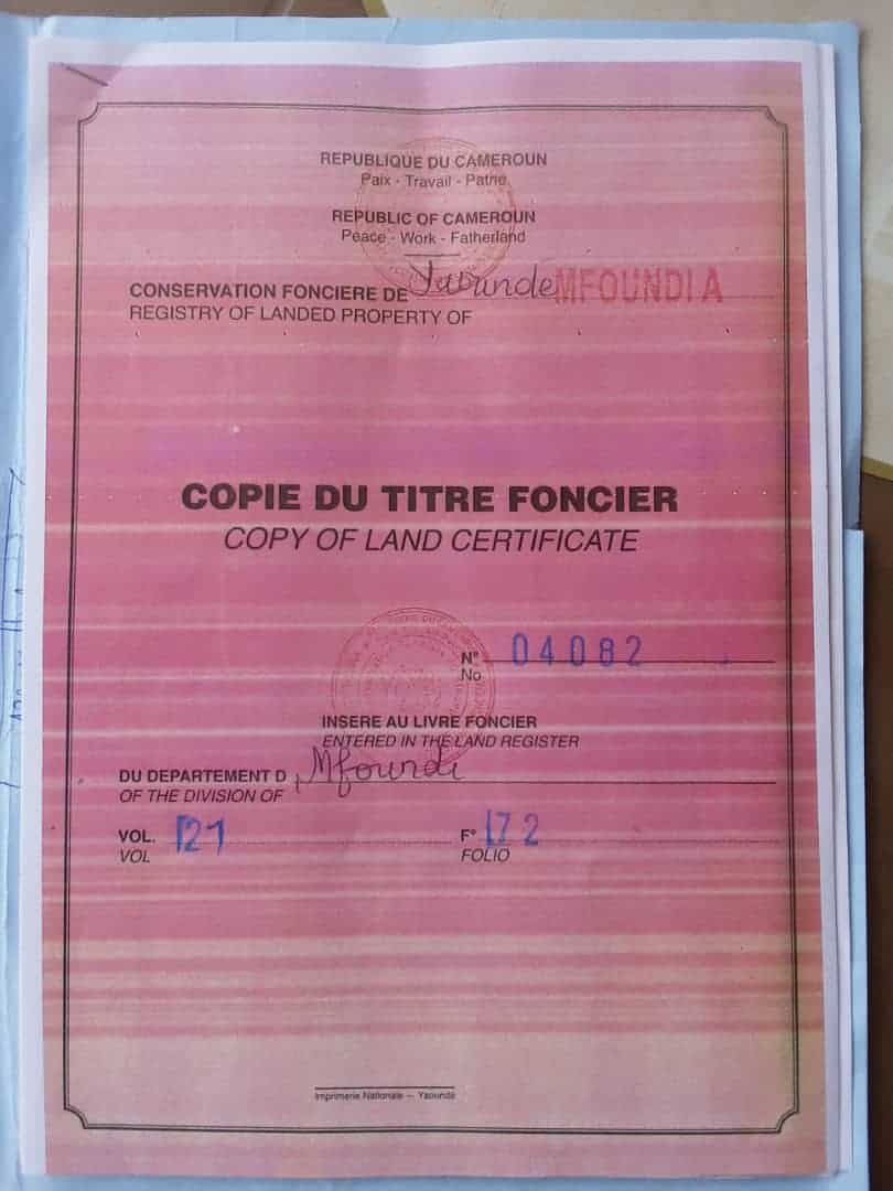 Land for sale at Yaoundé, Bastos, PARCOUR VITA - 1117 m2 - 167 550 000 FCFA