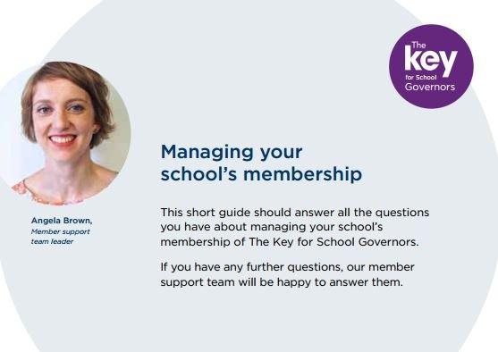 Managing your school's membership