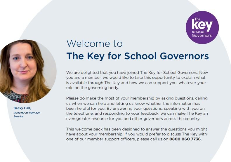 Welcome to The Key for School Governors