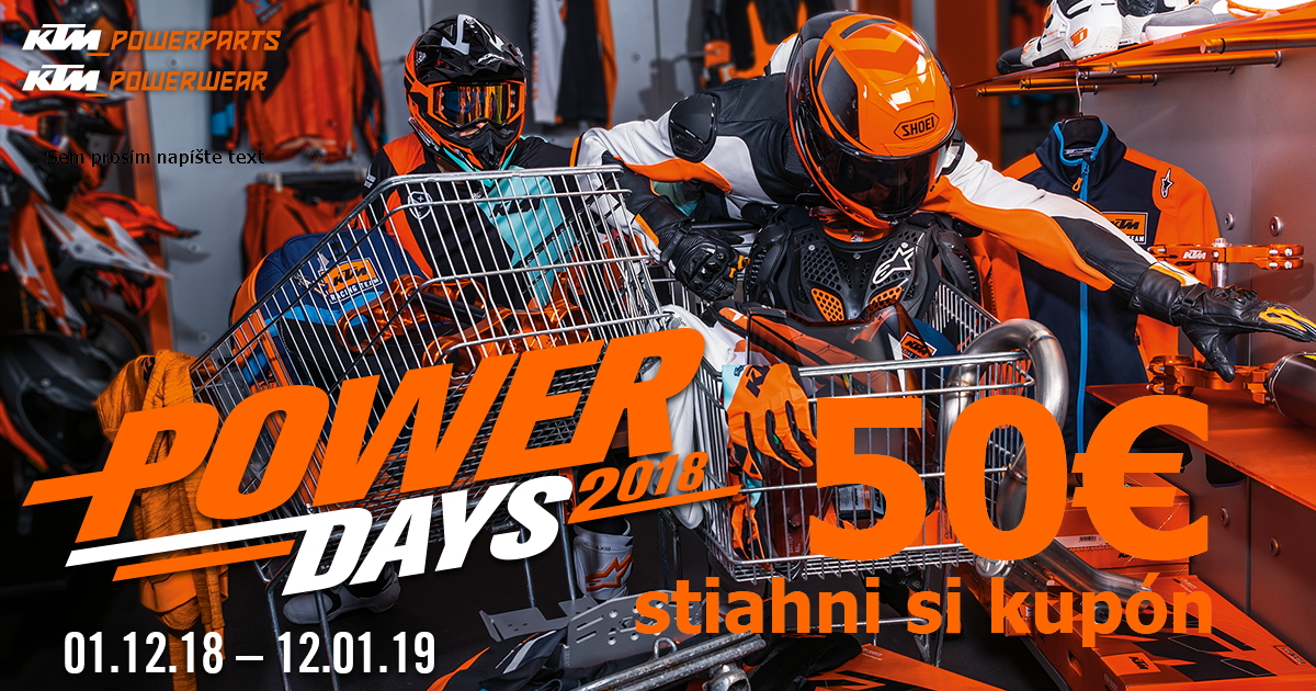 Stiahni si 50€ kupón s KTM powerDays a KTM Košice