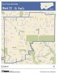 Map of Ward 22 boundaries