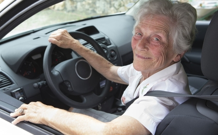 Older lady driving