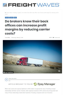 Freightwaves - Increase Profit