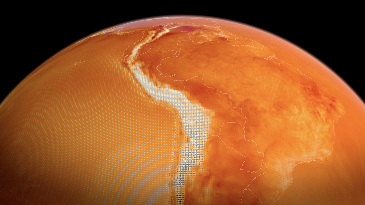 Visualization of the earth temperature