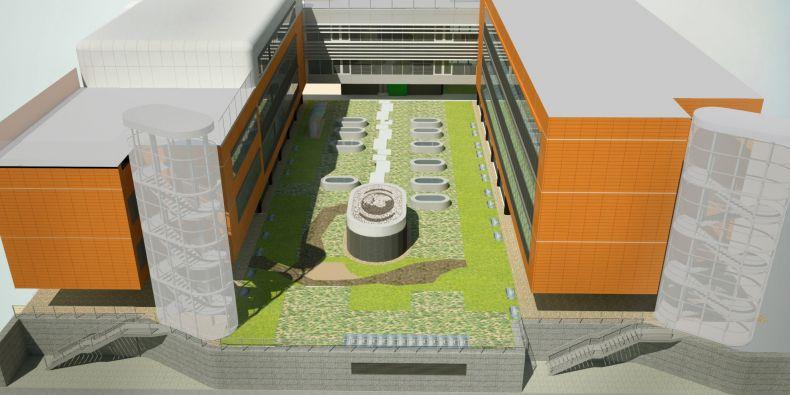 Masarykova univerzita, Magazín M, CC-BY: Biobanka bude pod zemí mezi pavilony Recetoxu a Inbitu.