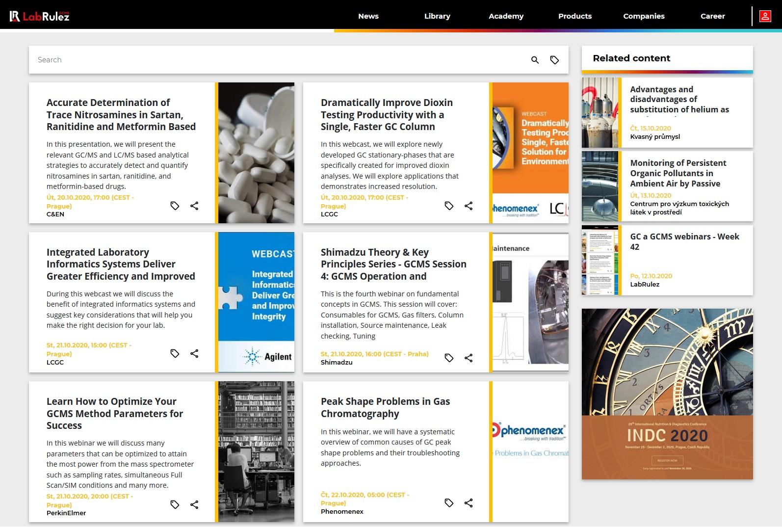 LabRulez: GC and GCMS webinars - Week 43