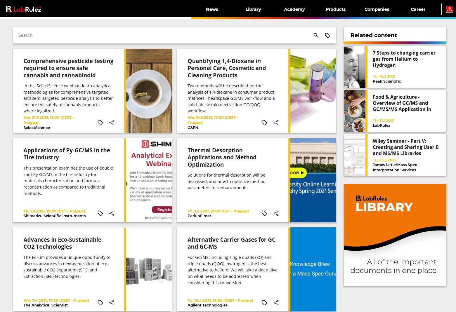 LabRulez: GC and GCMS webinars - Week 13