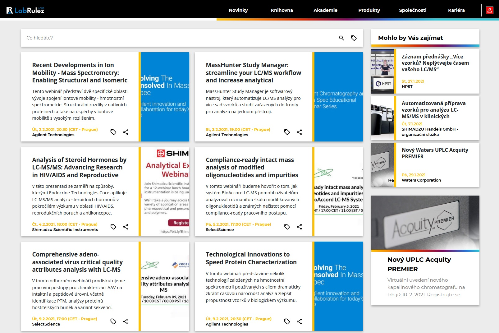 LabRulez: LC a LCMS webináře - únor 2021