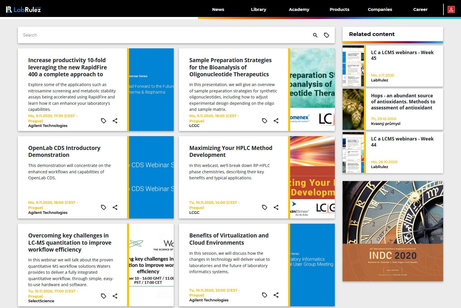 LabRulez: LC and LCMS webinars - Week 46